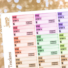 Load image into Gallery viewer, Order tracker planner stickers  |  for  Erin Condren Happy Planner - package