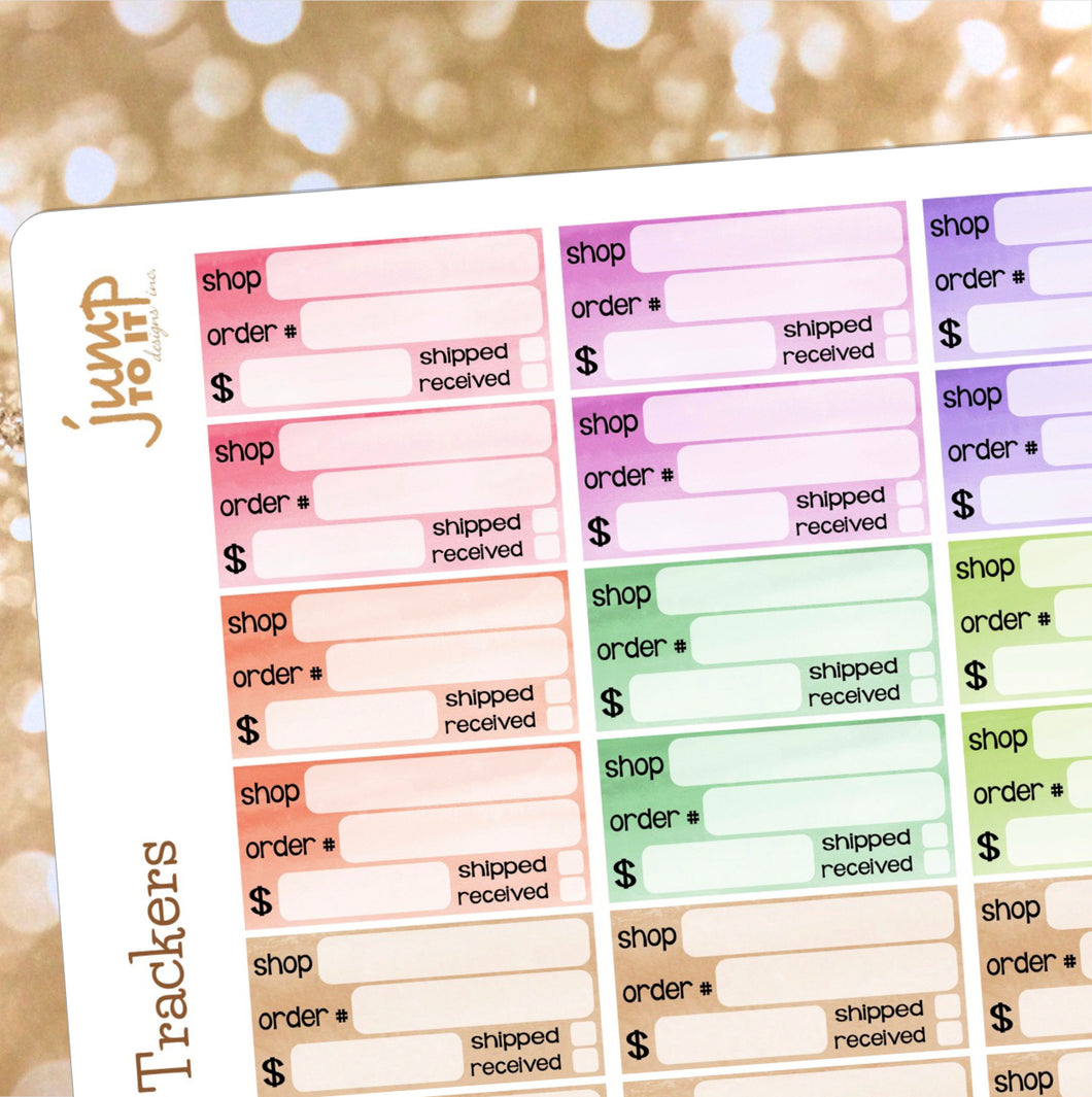 Order tracker planner stickers  |  for  Erin Condren Happy Planner - package
