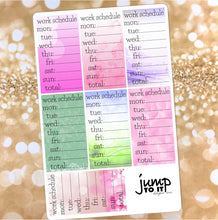 Load image into Gallery viewer, Work Schedule stickers - for Erin Condren Happy Planner Sticker- sidebar
