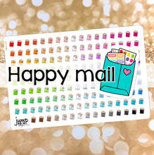 Load image into Gallery viewer, Happy Mail Functional rainbow stickers  - Happy Planner Erin Condren Recollection TN - planner