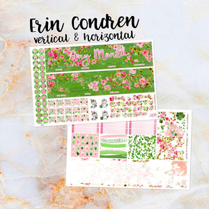 Any Month Monthly - BLOSSOMS monthly view spread - ECLP, Happy Planner Classic Big Mini, Recollection - pick a month floral spring