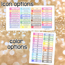 Load image into Gallery viewer, Functional Tabs CUSTOM Sheets Little Things Littles -Erin Condren Happy Planner - cleaning hydrate laundry money shopping workout