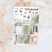 Load image into Gallery viewer, Secret Getaway sampler stickers - for Happy Planner, Erin Condren Vertical and Horizontal Planners