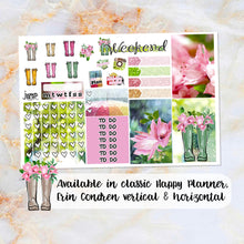 Load image into Gallery viewer, Rainy Days sampler stickers - for Happy Planner, Erin Condren Vertical and Horizontal Planners