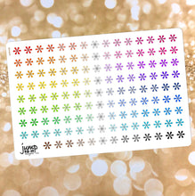 Load image into Gallery viewer, Asterisk Functional rainbow stickers  - Happy Planner Erin Condren Recollection TN - reminders