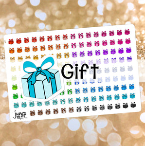 Gift Functional rainbow stickers  - Happy Planner Erin Condren Recollection TN - party birthday present