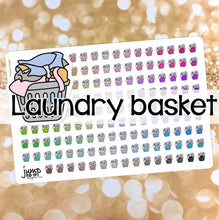 Load image into Gallery viewer, Laundry Basket Functional rainbow stickers  - Happy Planner Erin Condren Recollection TN - chores