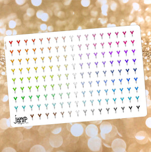 Paper Clip Functional rainbow stickers  - Happy Planner Erin Condren Recollection TN - ribbon