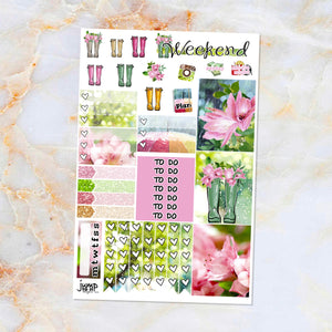 Rainy Days sampler stickers - for Happy Planner, Erin Condren Vertical and Horizontal Planners