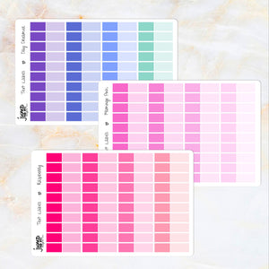 TEXT LABELS for foil text - Erin Condren Happy Planner B6 Hobo
