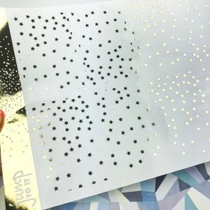 Foil Planner Stickers - STARS full boxes - Erin Condren Happy Planner Big Mini B6 Hobo