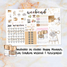 Load image into Gallery viewer, Gold Office sampler stickers - for Happy Planner, Erin Condren Vertical and Horizontal Planners