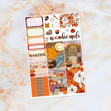 Load image into Gallery viewer, Pumpkin Patch sampler stickers - for Happy Planner, Erin Condren Vertical and Horizontal Planners