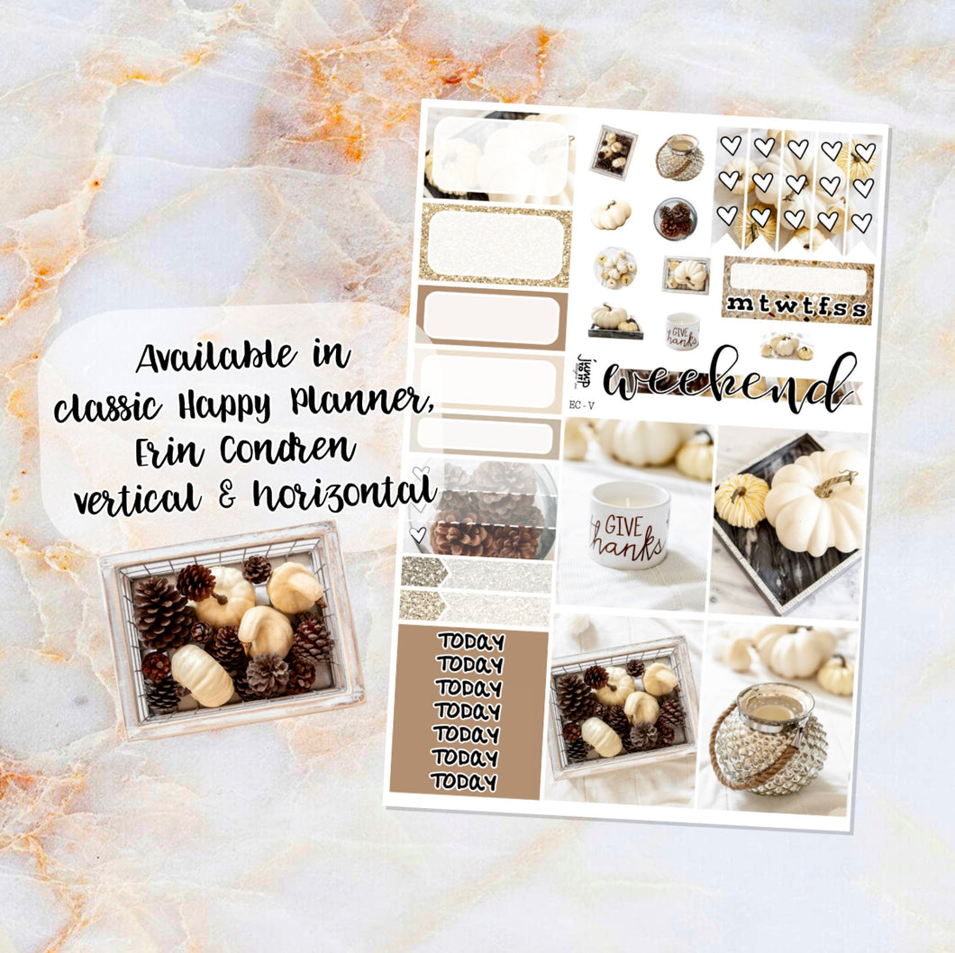 Serene sampler stickers - for Happy Planner, Erin Condren Vertical and Horizontal Planners