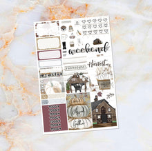 Load image into Gallery viewer, Farmhouse Harvest sampler stickers - for Happy Planner, Erin Condren Vertical and Horizontal Planners