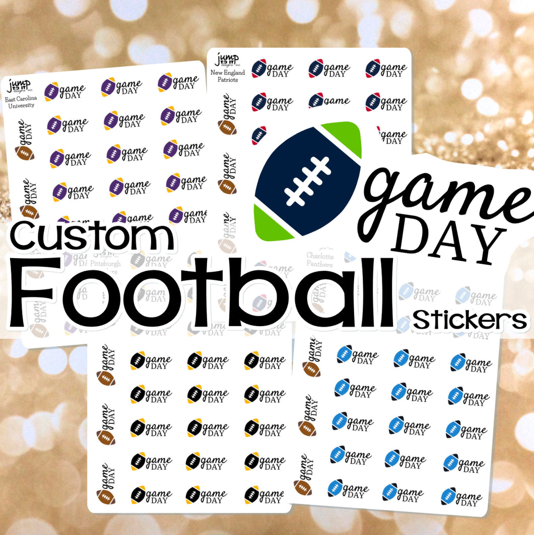 Custom Football stickers - for Erin Condren Happy Planner B6 TN - sports fall winter