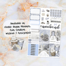 Load image into Gallery viewer, Winter in the City sampler stickers - for Happy Planner, Erin Condren Vertical and Horizontal Planners