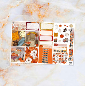 Pumpkin Patch sampler stickers - for Happy Planner, Erin Condren Vertical and Horizontal Planners