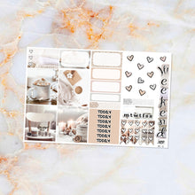 Load image into Gallery viewer, Winter White sampler stickers - for Happy Planner, Erin Condren Vertical and Horizontal Planners