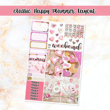 Load image into Gallery viewer, Valentine Love sampler stickers - for Happy Planner, Erin Condren Vertical and Horizontal Planners