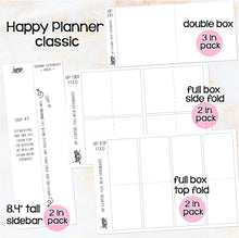 Load image into Gallery viewer, Box Extenders - Happy Planner Erin Condren Recollection - full box, double box & sidebar