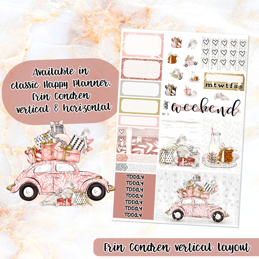 Hello Winter sampler stickers - for Happy Planner, Erin Condren Vertical and Horizontal Planners