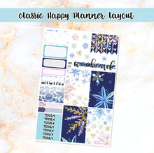 Load image into Gallery viewer, Snowflakes sampler stickers - for Happy Planner, Erin Condren Vertical and Horizontal Planners