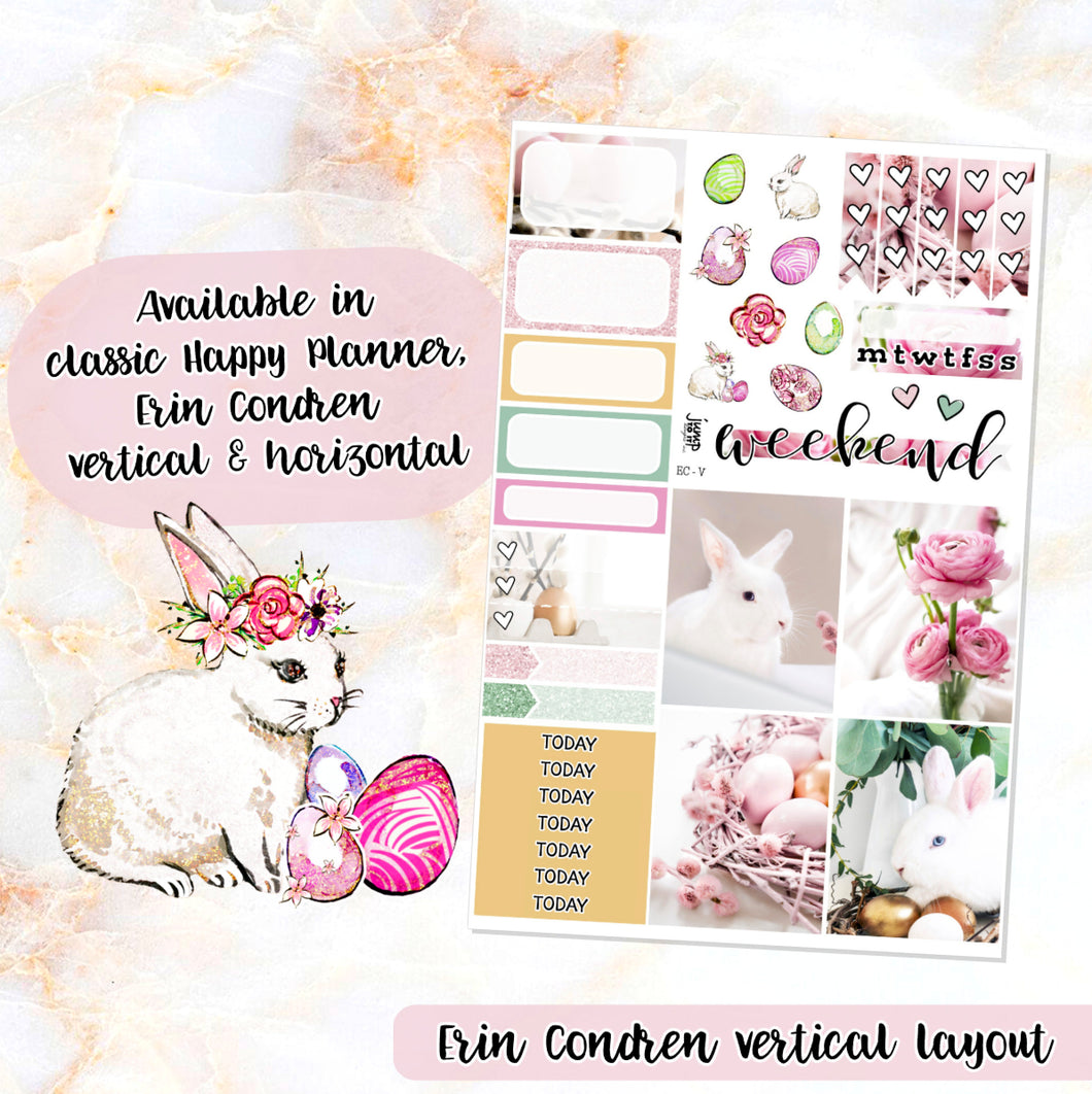 Easter Rose sampler stickers - for Happy Planner, Erin Condren Vertical and Horizontal Planners