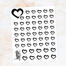 Load image into Gallery viewer, Foil Planner Stickers - HEART icon - Erin Condren Happy Planner B6 Hobo - love