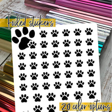 Load image into Gallery viewer, Foil Planner Stickers - PAW PRINT icon - Erin Condren Happy Planner B6 Hobo - pet dog cat