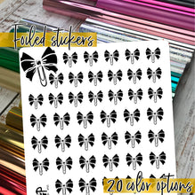 Load image into Gallery viewer, Foil Planner Stickers - BOW CLIP icon - Erin Condren Happy Planner B6 Hobo - ribbon