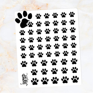 Foil Planner Stickers - PAW PRINT icon - Erin Condren Happy Planner B6 Hobo - pet dog cat