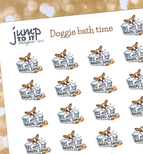 Dog Bath Reminders - for Erin Condren Happy Planner Sticker