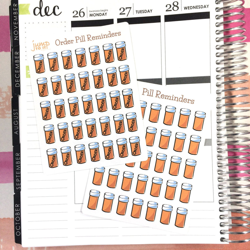 Prescription Pills Reminders stickers | for Erin Condren Happy Planner Sticker