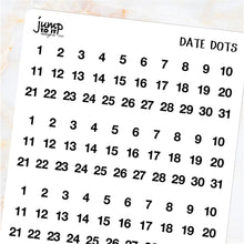 Load image into Gallery viewer, Day date dots - Erin Condren Happy Planner B6 Hobo - monthly days