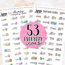 Load image into Gallery viewer, NewRELEASE SALE Everyday Icons stickers  - Happy Planner Erin Condren Recollection TN - celebration