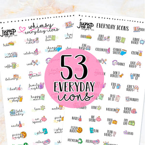 NewRELEASE SALE Everyday Icons stickers  - Happy Planner Erin Condren Recollection TN - celebration