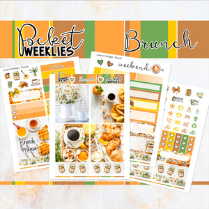Brunch - POCKET Mini Weekly Kit Planner stickers - summer neutral