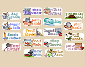 Household Chores stickers - Customized sheets! Over 50 choices - for Erin Condren Happy Planner - cleaning laundry
