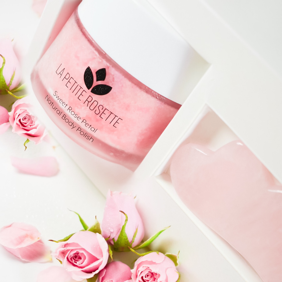 rose body polish gift