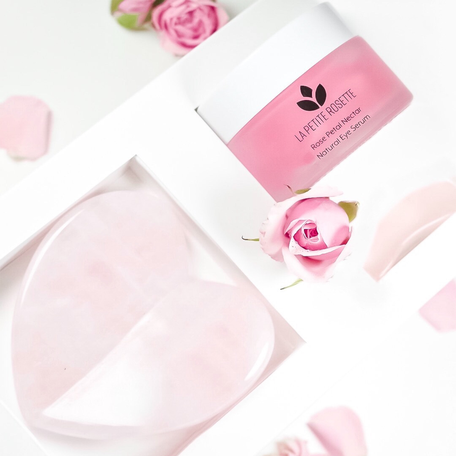 rose-infused skin care fore eyes gift set