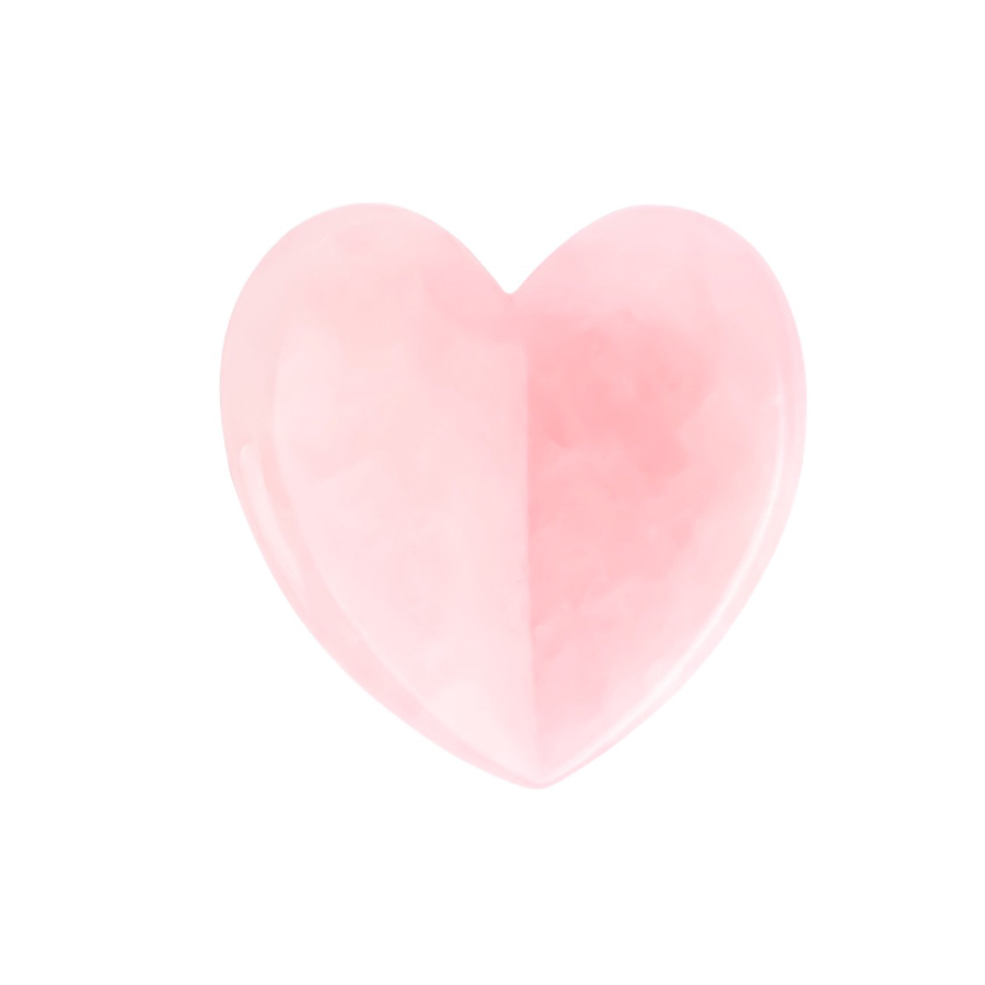 rose quartz heart for face massage