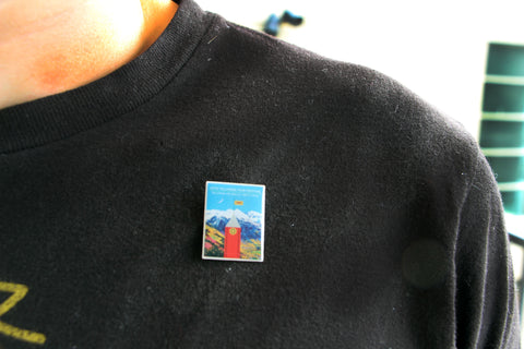45th Telluride Film Festival Poster Art Lapel Pin
