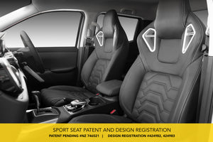 Leather Sports Seats - For Ford Ranger  - 2012 - 2018 PX MK1 MK2 T6 T7