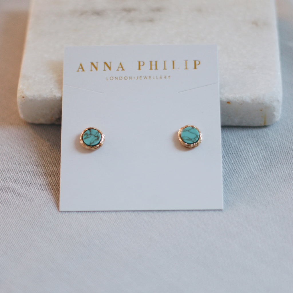 ANYA EARRINGS - TEAL