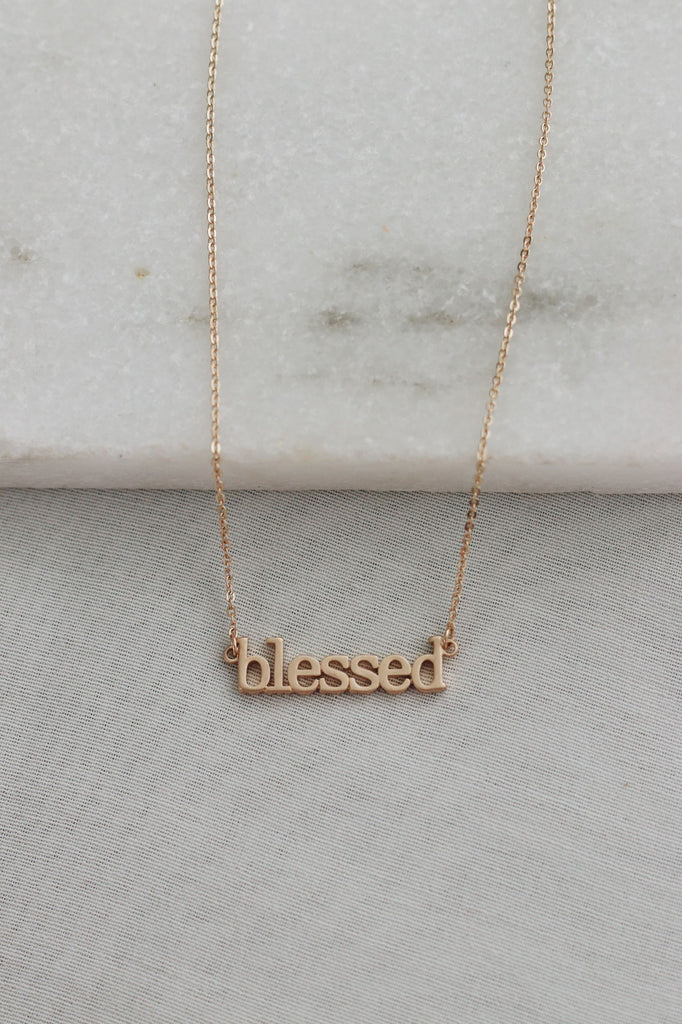 GOLD PLATED NECKLACE - BLESSED