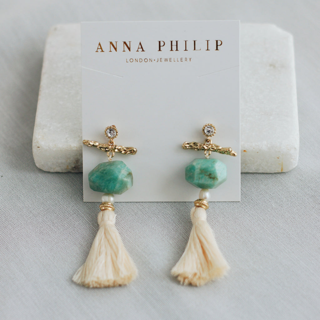 CELESTE EARRINGS - TEAL