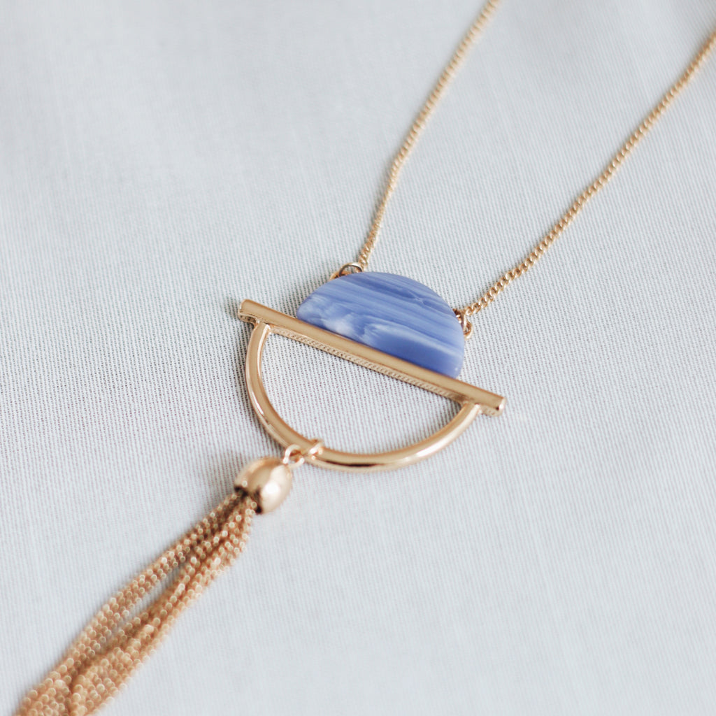 HERA NECKLACE - COBALT BLUE