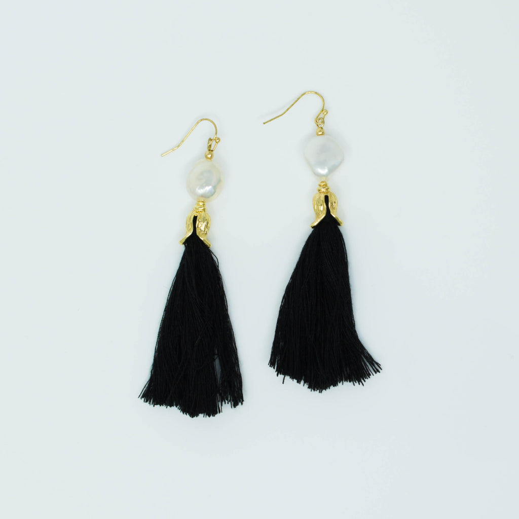 FREYA EARRINGS (BLACK) - Anna Philip