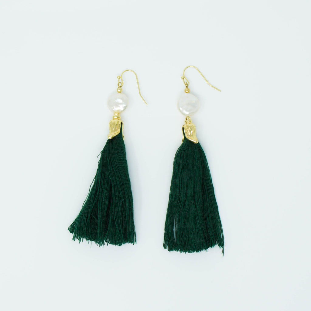 FREYA EARRINGS (EMERALD) - Anna Philip